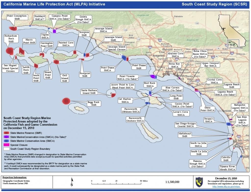 Map Of California. Coastal Map Of Southern California – California - Map Of Southern California Coastline