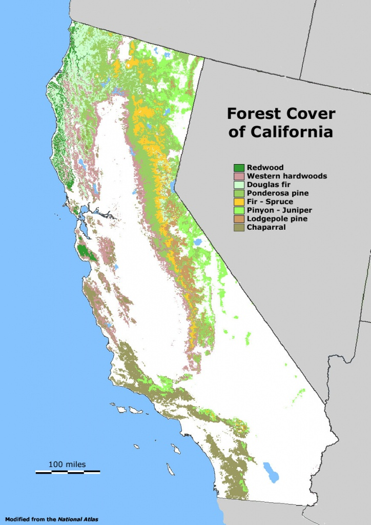Map Of California Forests | Twitterleesclub - California Forests Map