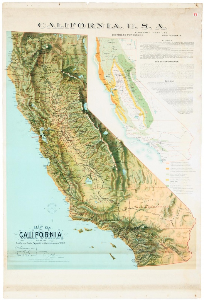 Map Of California Issuedcalifornia-Paris Exposition Commission - California Maps For Sale