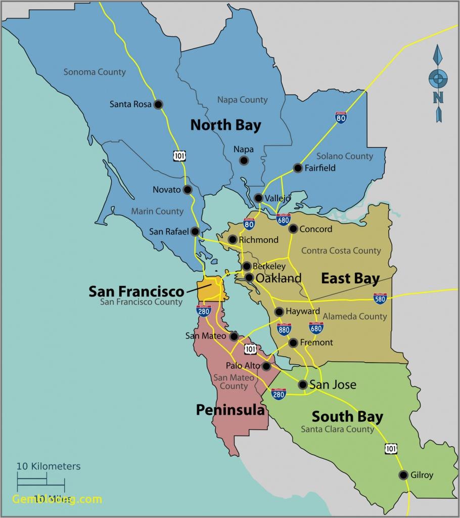 Map Of California Monterey Bay San Francisco Bay Area High - Monterey Bay California Map