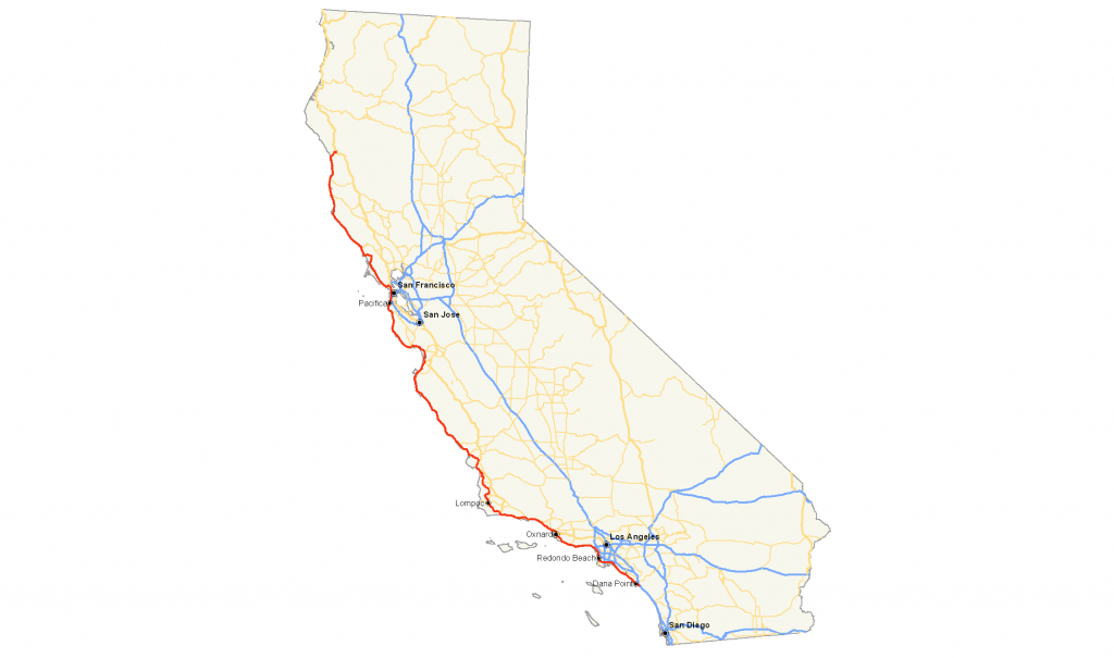 Map Of California Route 1 | Download Them And Print - California Oversize Curfew Map