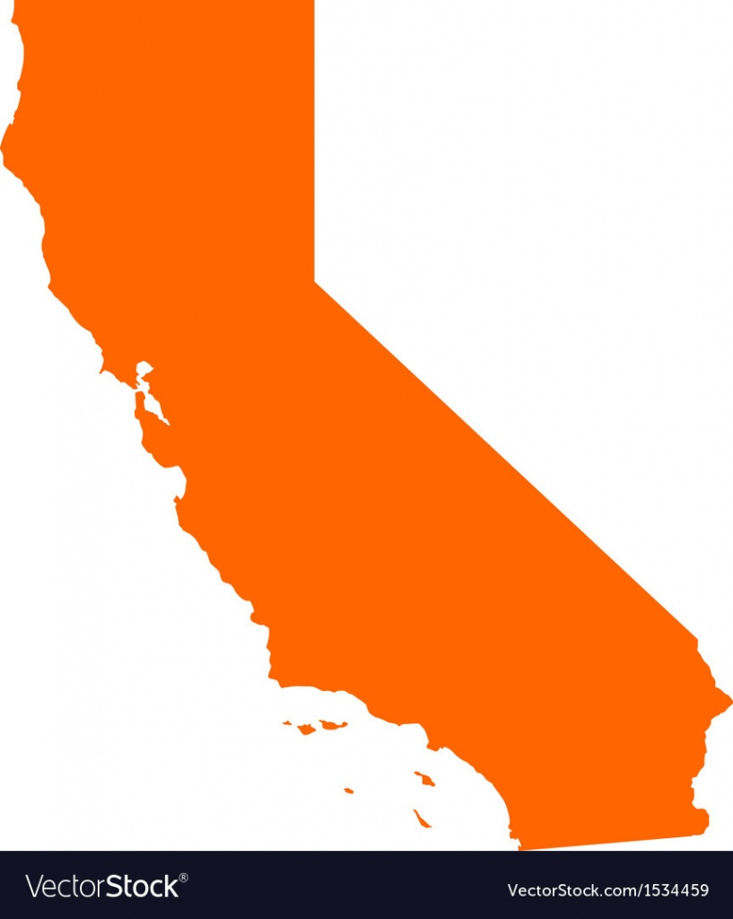Map Of California Royalty Free Vector Image - Vectorstock - California Pictures Map