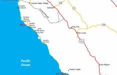 Map Of California's Central Coast   Big Sur, Carmel, Monterey   Map Of California Coastline