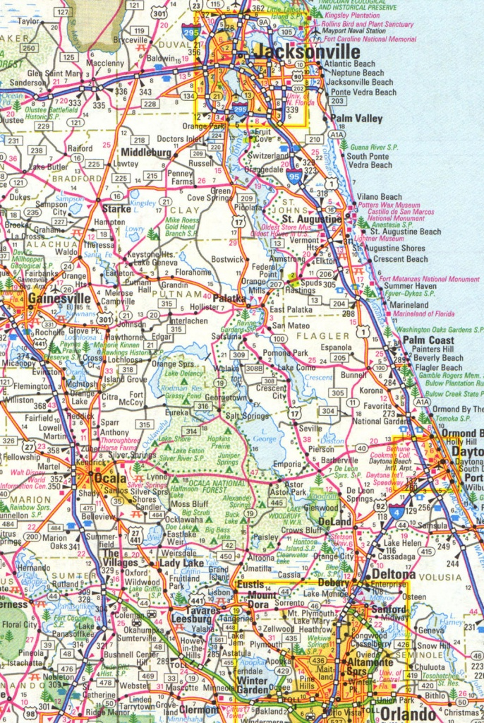 Map Of Central And Northeast Florida - Map Of Central Florida