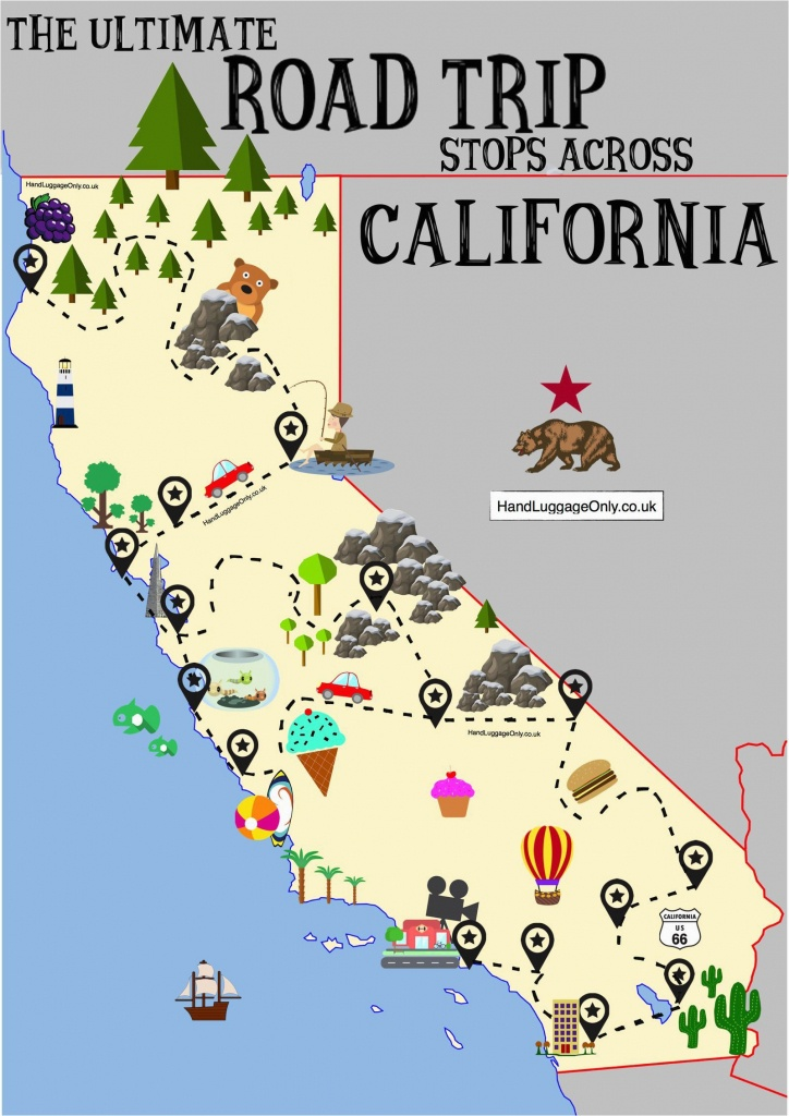 Map Of Central And Northern California The Ultimate Road Trip Map Of - Northern California Road Trip Map