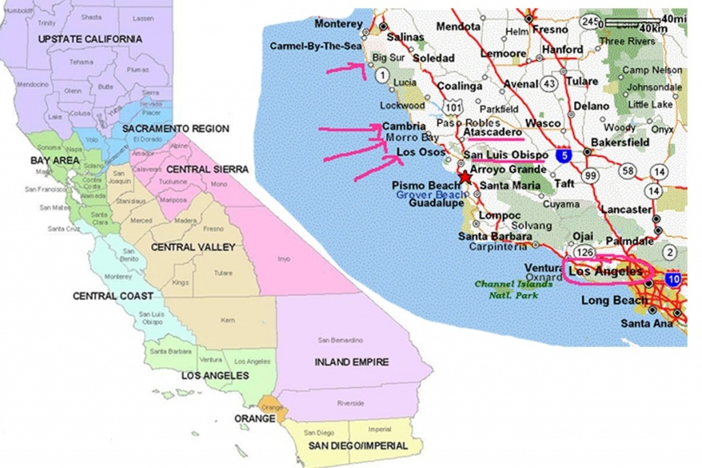 Map Of Central California Coast Towns – Map Of Usa District - Map Of Central California Coast Towns
