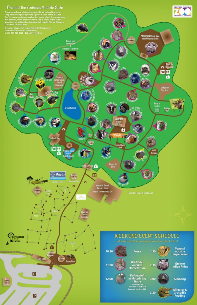 Map Of Central Florida Zoo | Download Them And Print - Central Florida Zoo Map