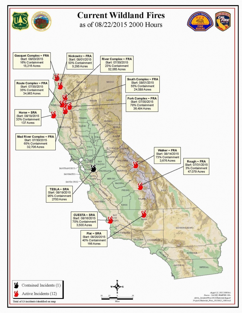 Map Of Current California Wildfires Southern California Wildfire Map - Map Of Current California Wildfires