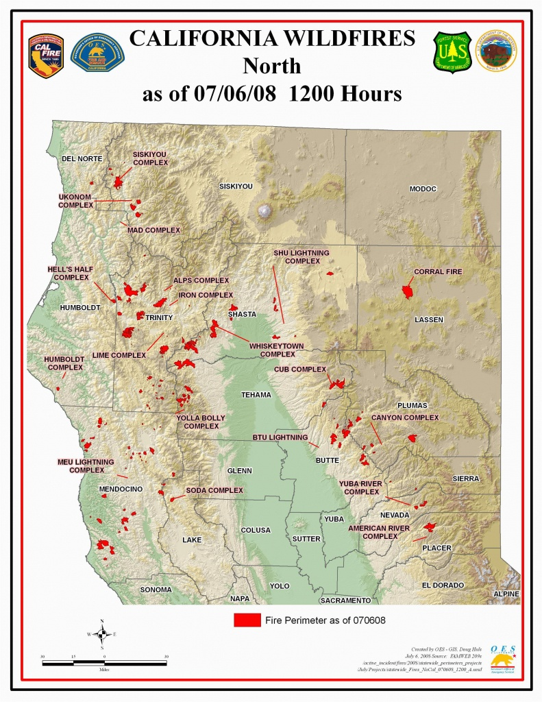 Map Of Current Fires In Northern California | Secretmuseum - Map Of Current California Wildfires