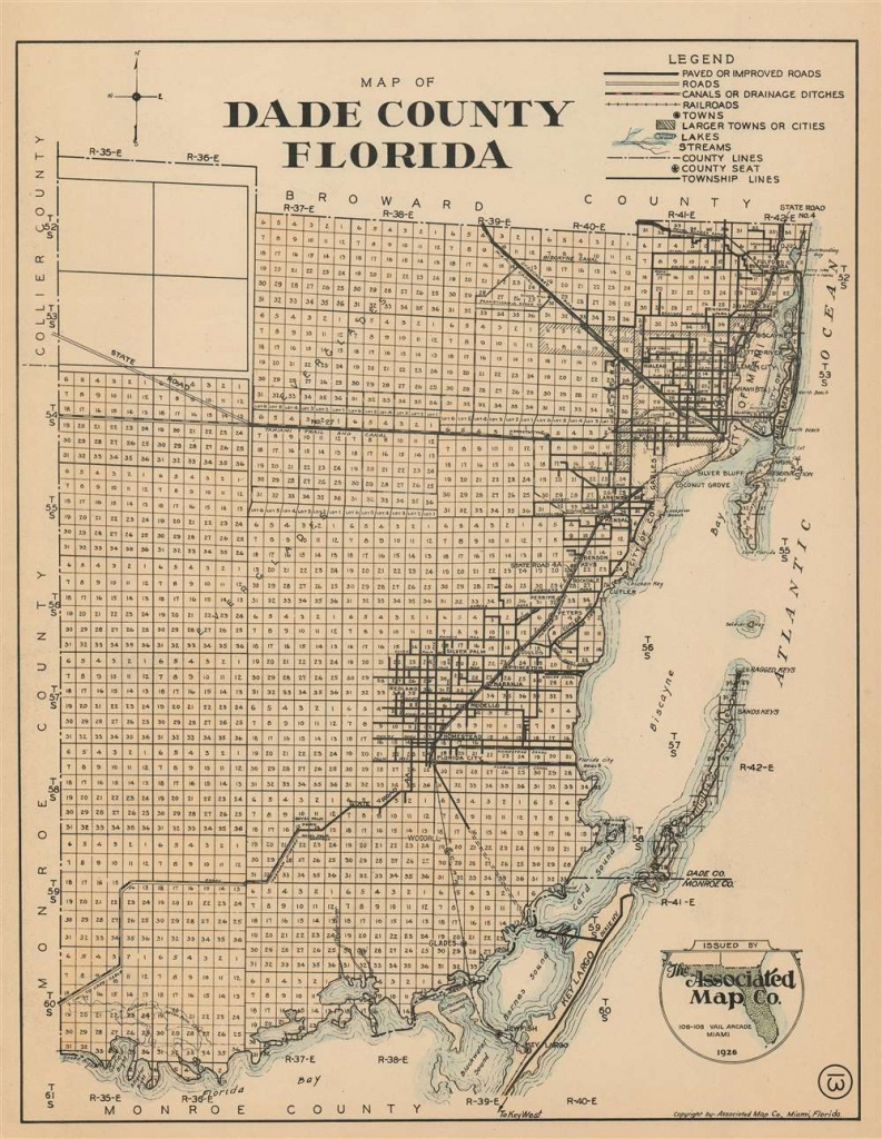 Map Of Dade County Florida: Geographicus Rare Antique Maps - Map Of Dade County Florida