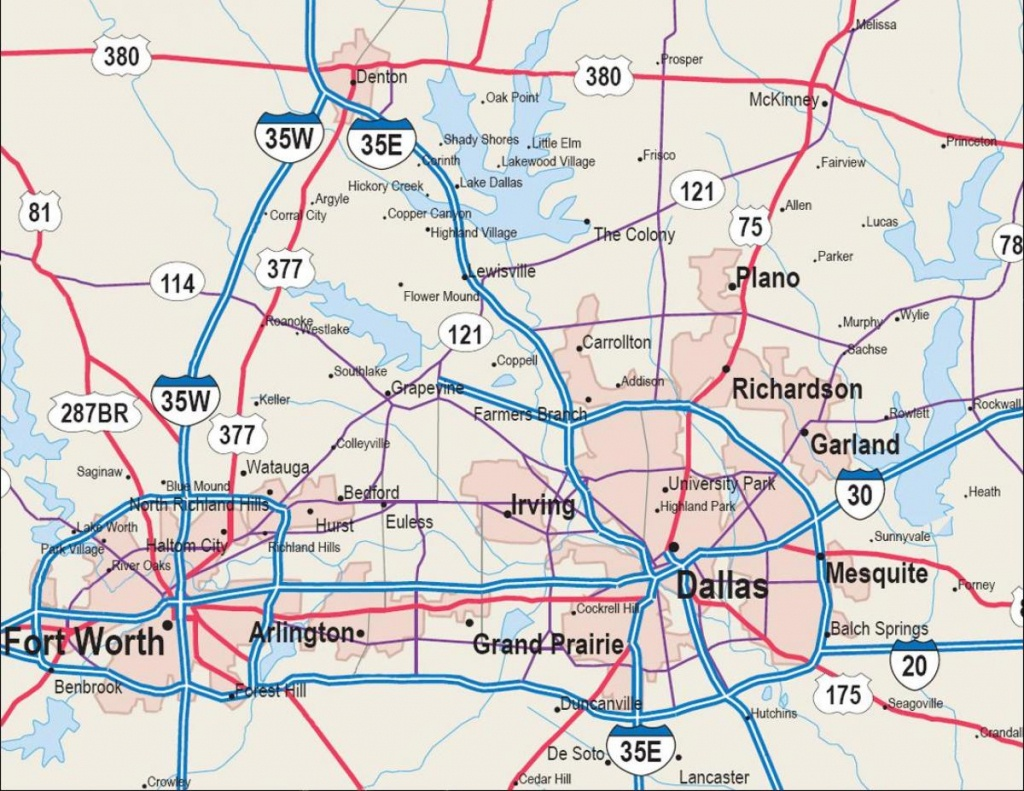 Map Of Dfw Metroplex - Map Dfw Metroplex (Texas - Usa) - Printable Map Of Fort Worth Texas