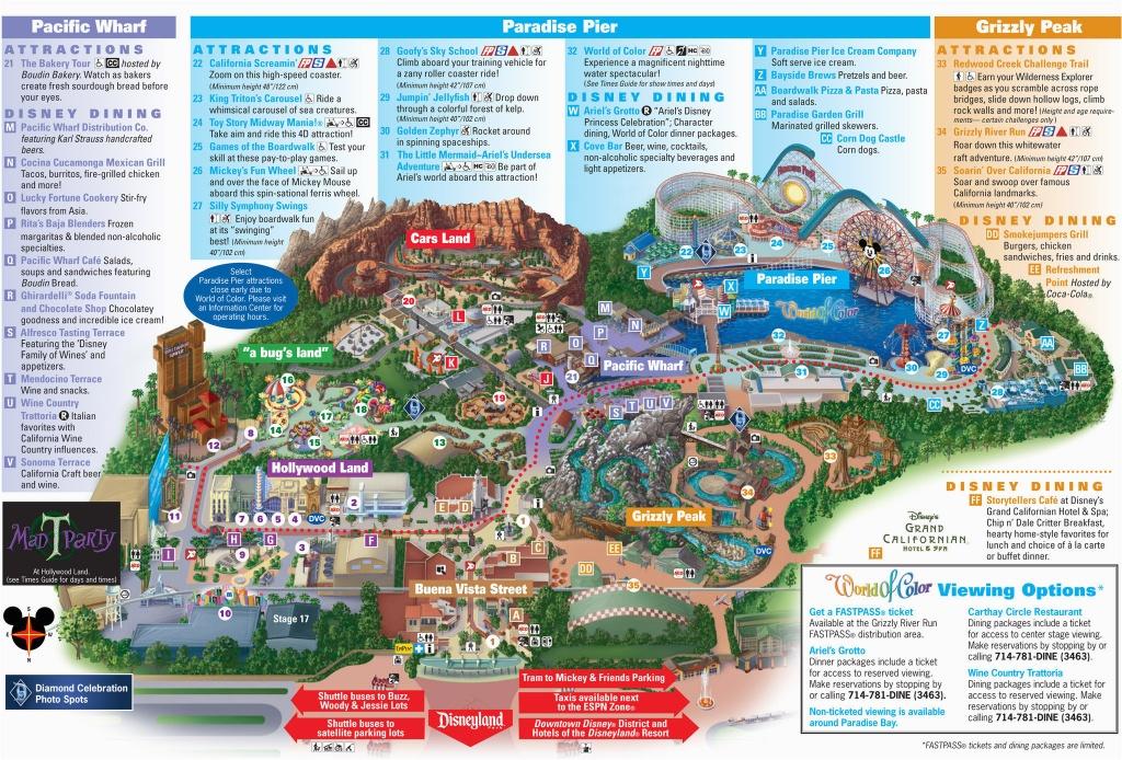 Map Of Disneyland And California Adventure Park Map Of Disney - California Adventure Map