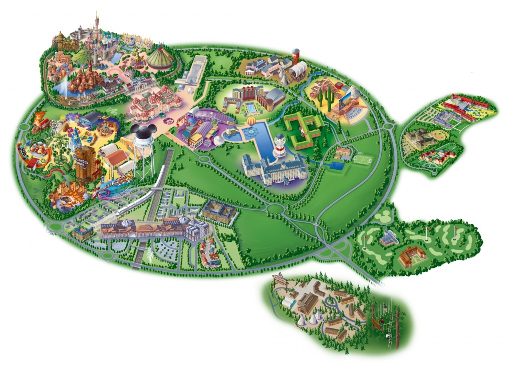 Map Of Disneyland Paris And Walt Disney Studios - Printable Disney Maps