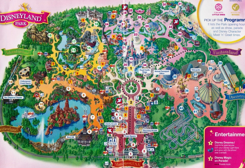 Map Of Disneyland Paris And Walt Disney Studios Regarding Disneyland - Printable Disneyland Map