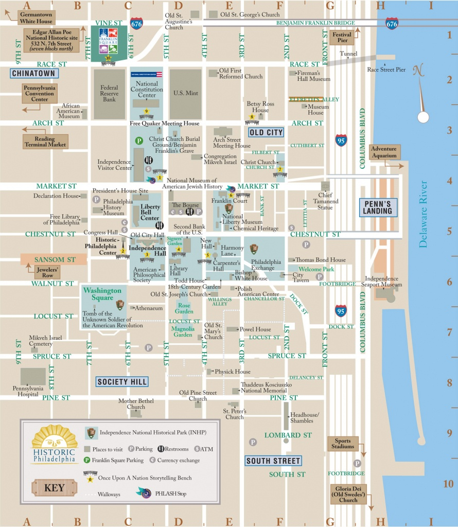 Map Of Downtown Philadelphia And Travel Information   Download Free - Map Of Old City Philadelphia Printable