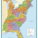Map Of East Coast Usa States With Cities Map United States Printable   Printable Map Of The Usa With States And Cities