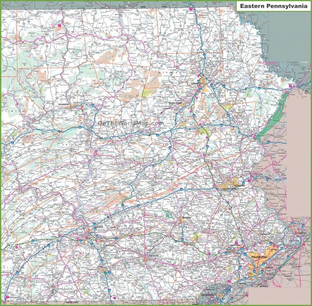 Map Of Eastern Pennsylvania - Printable Road Map Of Pennsylvania