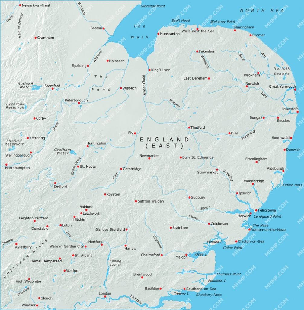 Map Of England East Anglia   Download Them And Print - Printable Map Of East Anglia