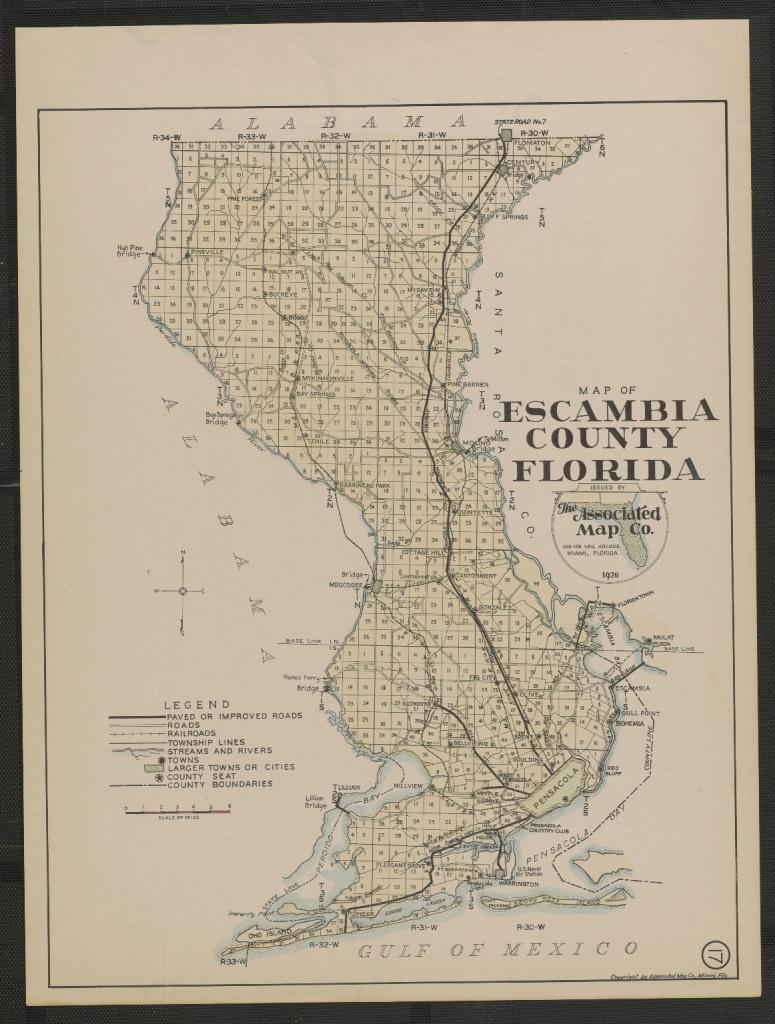 Map Of Escambia County Florida Sheet 17 - Touchton Map Library - Map Of Escambia County Florida