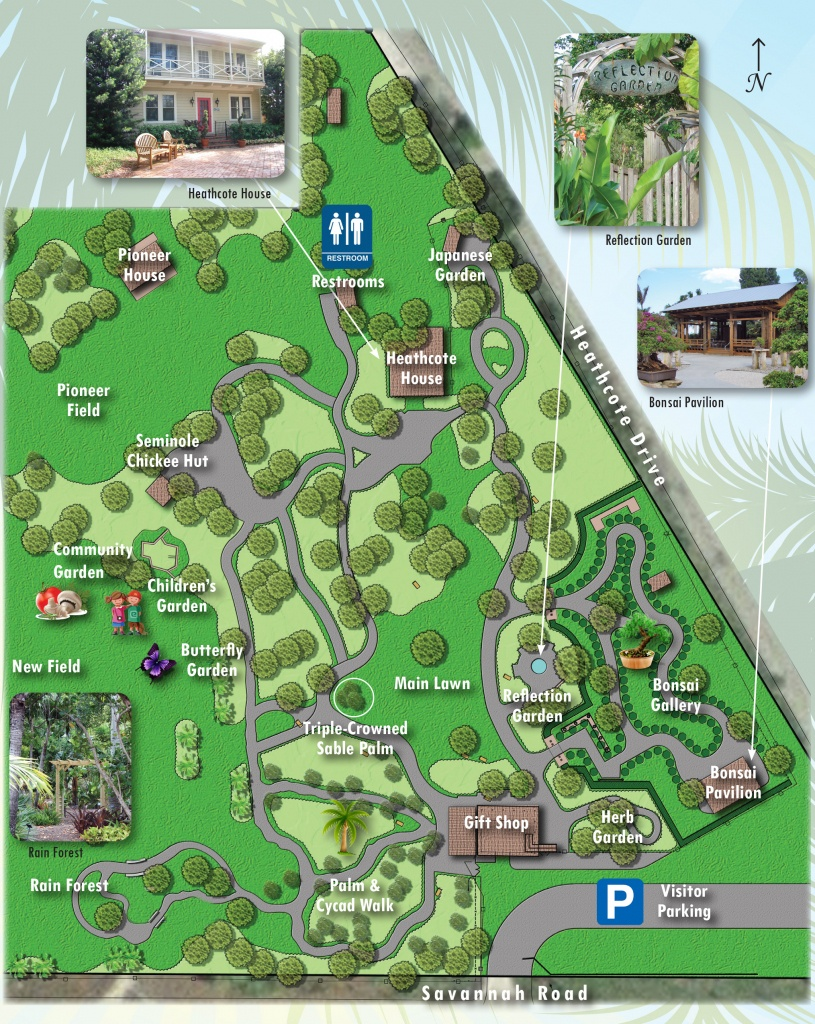 Map Of Exhibits - Heathcote Botanical Gardens - Florida Botanical Gardens Tourist Map