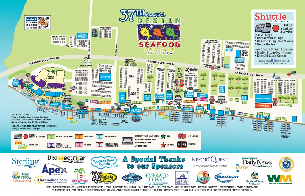 Map Of Fl Destin | Download Them And Print - Map Of Destin Florida Attractions