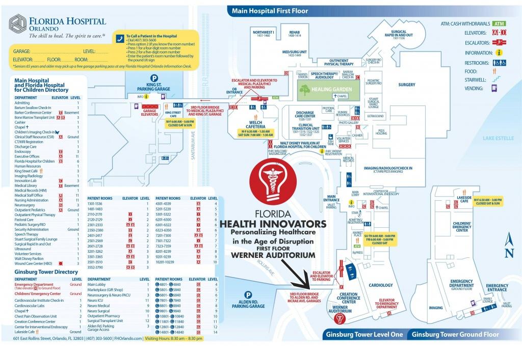 Map Of Florida Hospital Orlando   Download Them And Print - Florida Hospital South Map