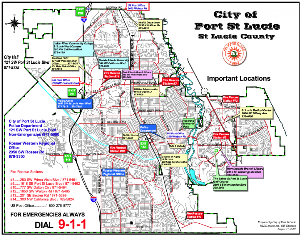 Map Of Florida Port St Lucie | Map Of Us Western States - Florida Map With Port St Lucie