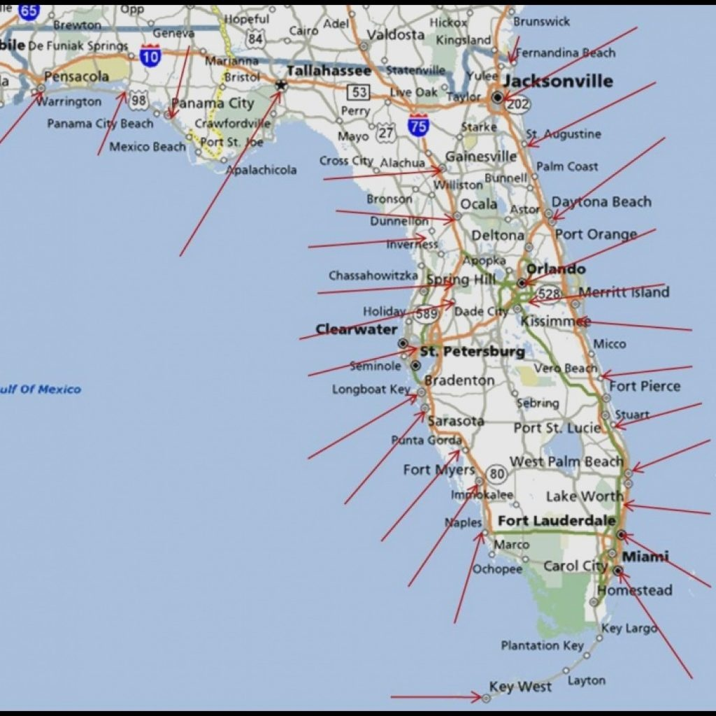 Map Of Florida West Coast Beaches And Travel Information | Download - West Florida Beaches Map