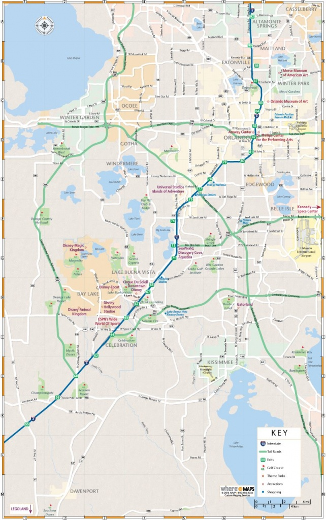 Map Of Greater Orlando: Interactive And Printable Maps | Wheretraveler - Printable Map Of Orlando