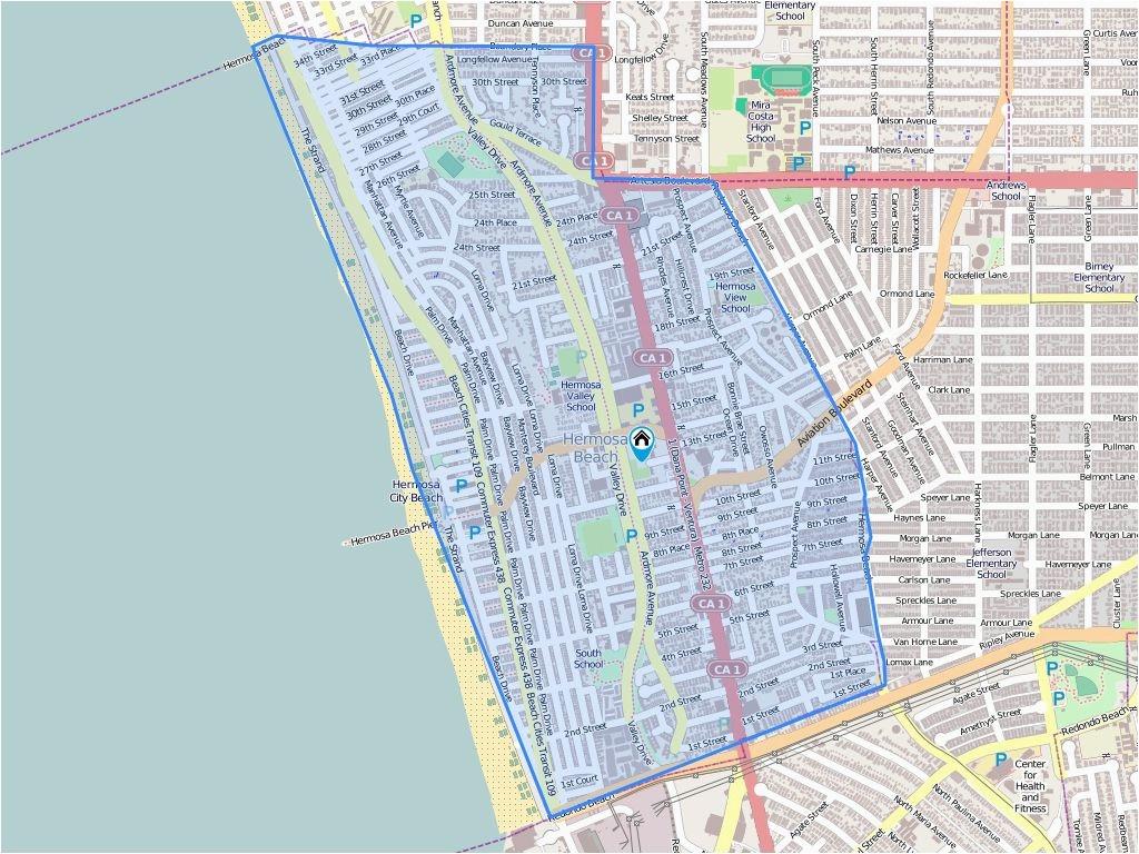Map Of Hermosa Beach California 703 Pier Ave Hermosa Beach Ca Biggs - Hermosa Beach California Map