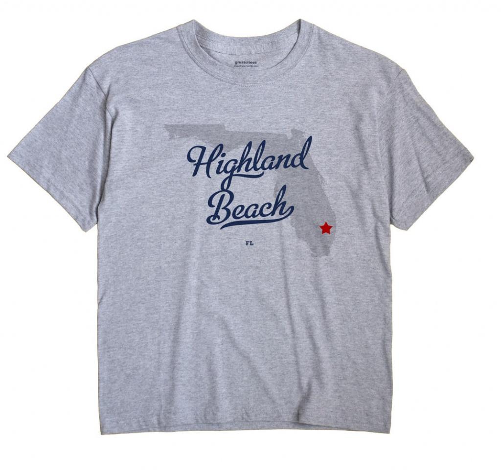 Map Of Highland Beach, Fl, Florida - Highland Beach Florida Map