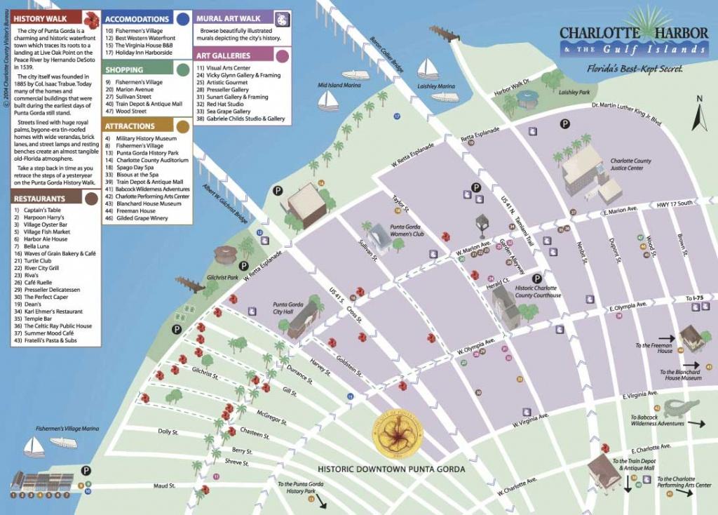 Map Of Historic Downtown Punta Gorda - Punta Gorda Florida Map