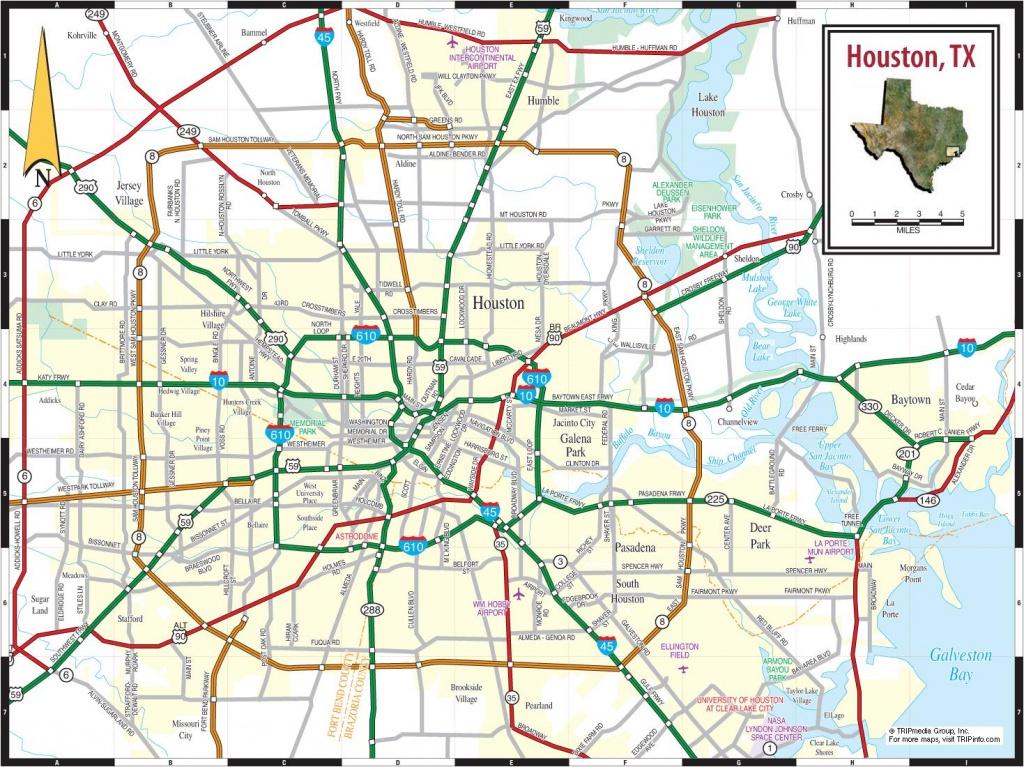 Map Of Houston Texas - Houston On Texas Map (Texas - Usa) - Houston Texas Map