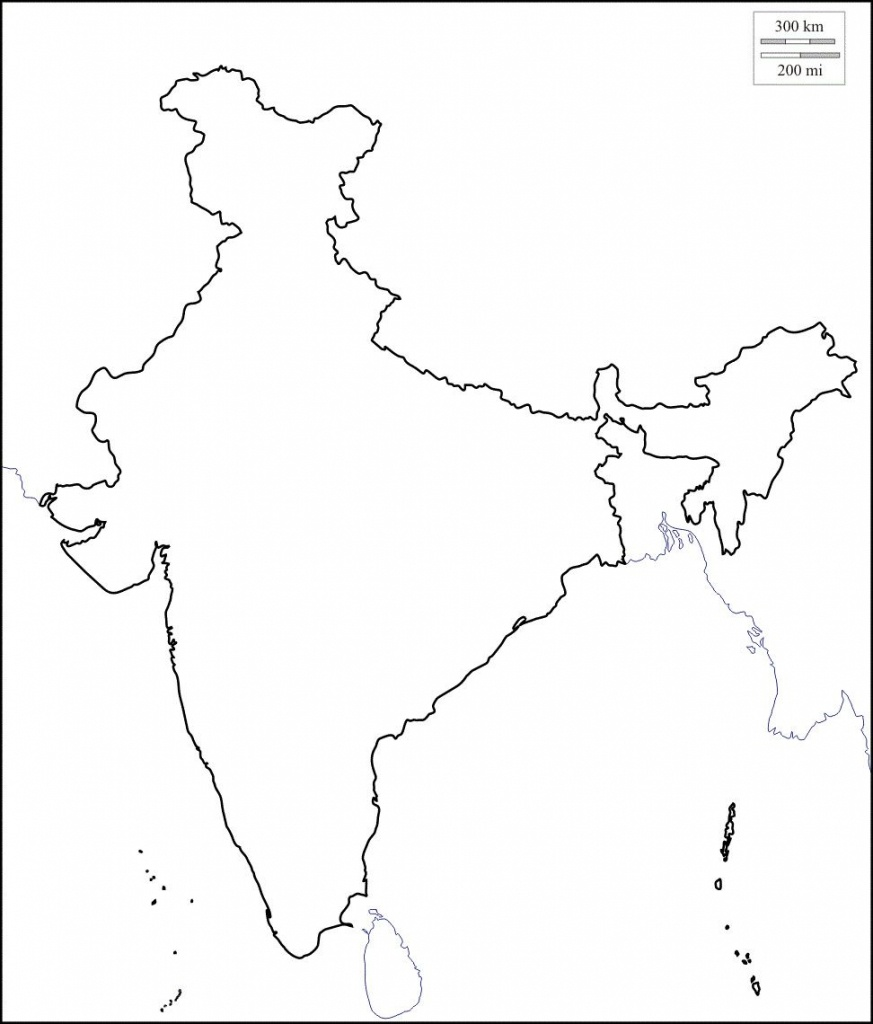 Map Of India Outline   Map Of India With States In 2019   India Map - India Outline Map A4 Size Printable