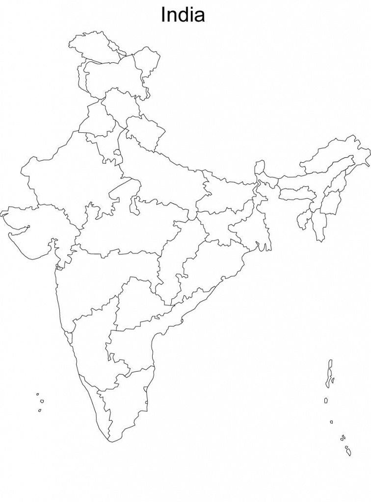 Map Of India Without Names Blank Political Map Of India Without - Map Of India Blank Printable