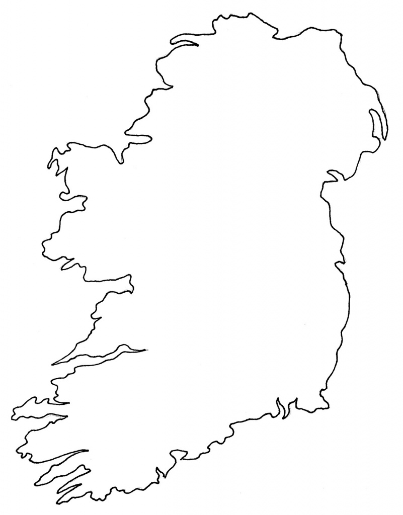 Map Of Ireland Blank   Twitterleesclub - Printable Blank Map Of Ireland