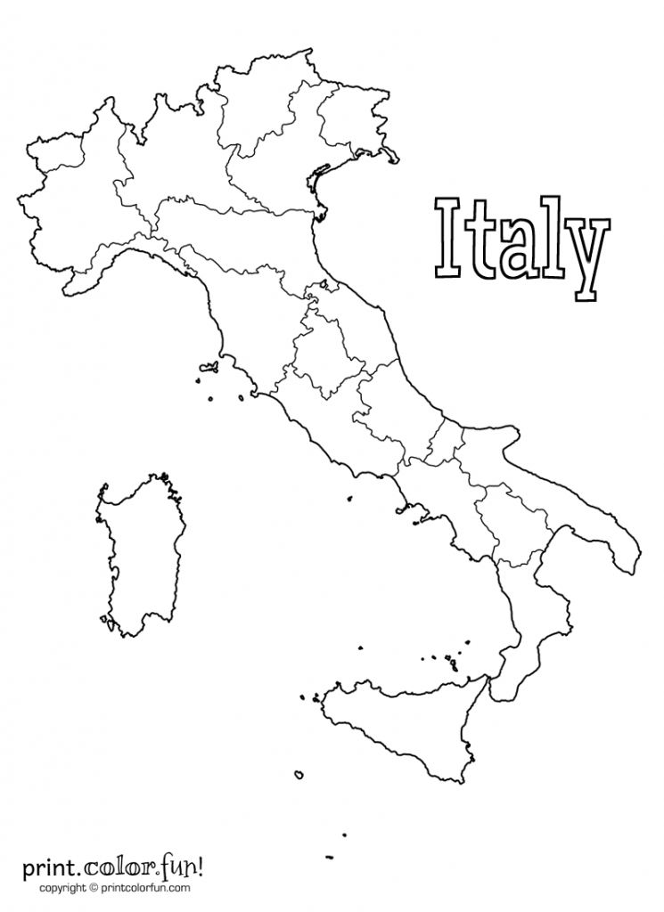 Map Of Italy | Print. Color. Fun! Free Printables, Coloring Pages - Printable Blank Map Of Italy