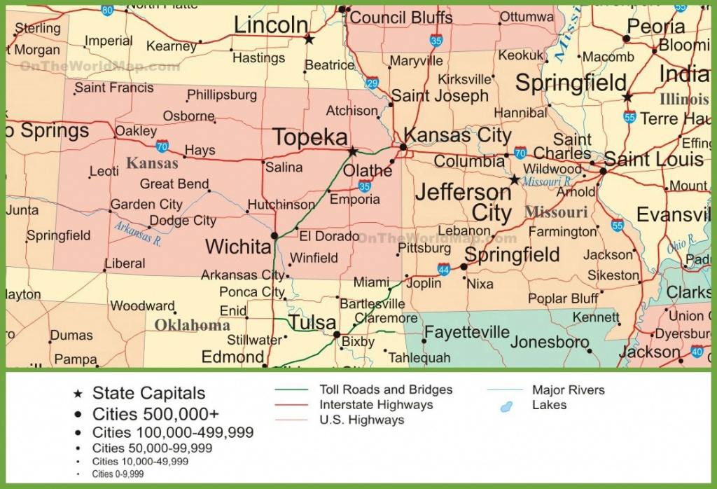 Map Of Kansas And Missouri - Printable Map Of Kansas
