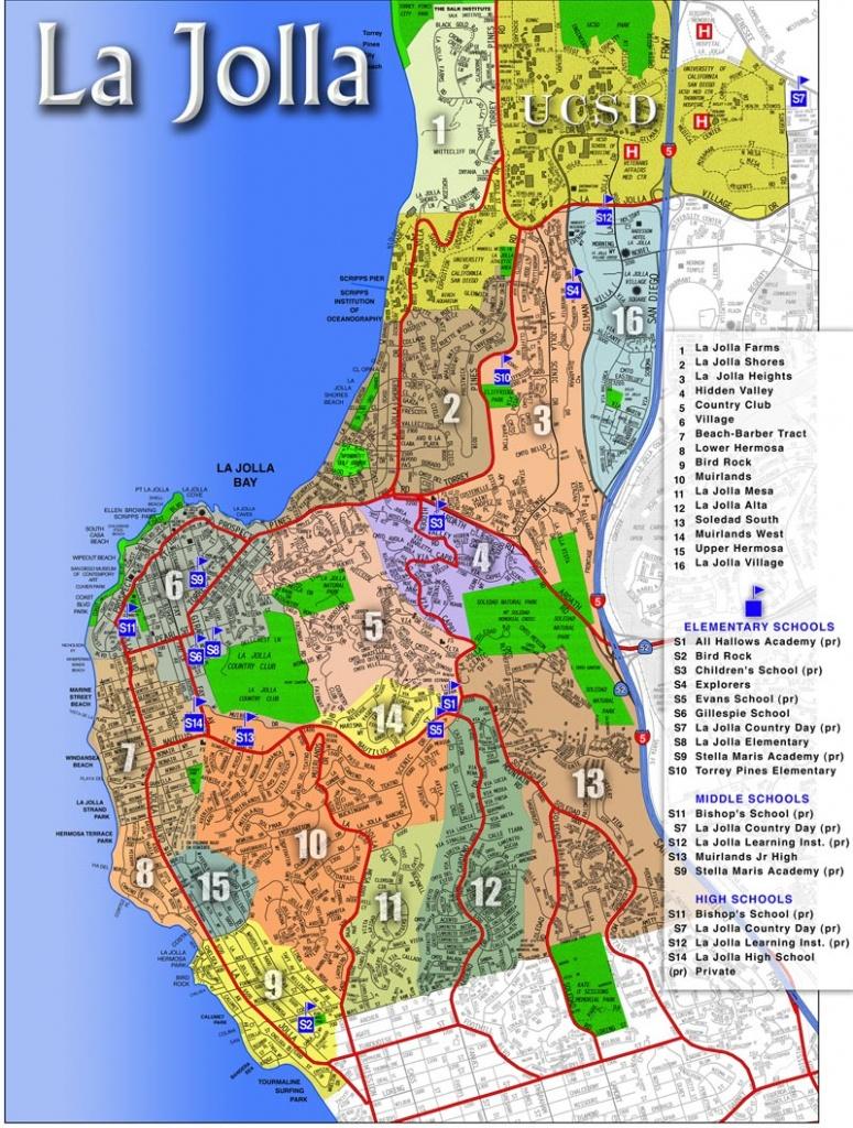 Map Of La Jolla, Ca - Areas & Communities Of La Jolla, California - Map Of La California