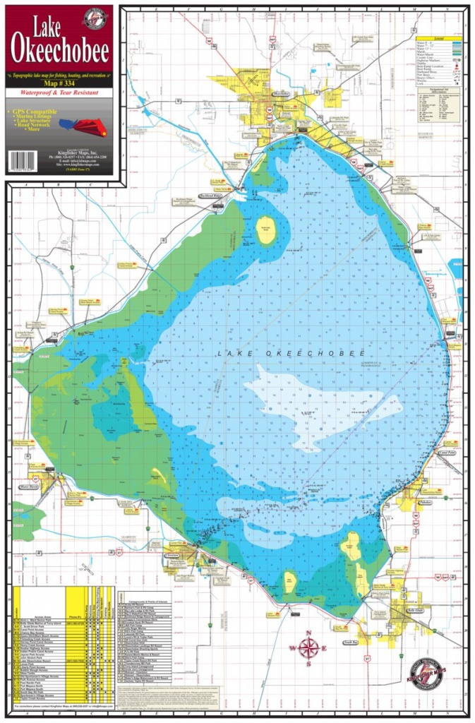 Map Of Lake Okeechobee | Dehazelmuis - Fishing Map Of Lake Okeechobee Florida
