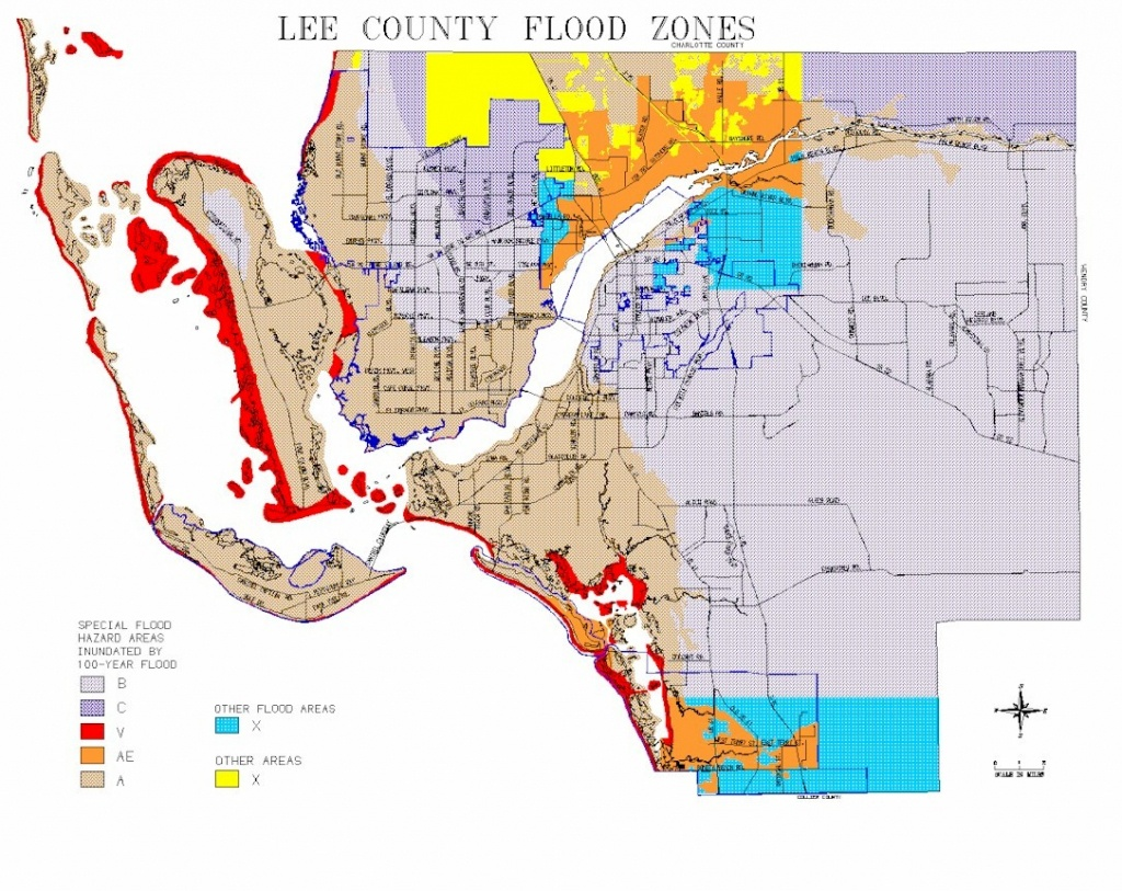 Map Of Lee County Flood Zones - Florida Flood Zone Map