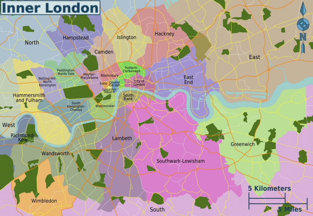 Map Of London 32 Boroughs & Neighborhoods - Printable Map Of London Boroughs