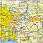 Map Of Los Angeles – Free Printable Maps Within Los Angeles County   Printable Map Of Los Angeles
