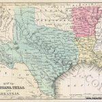 Map Of Louisiana, Texas, And Arkansas *****sold*****   Antique Maps   Texas Louisiana Border Map