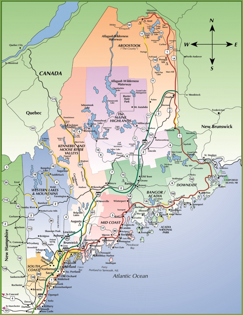 Map Of Maine Coast - Printable Road Map Of Maine