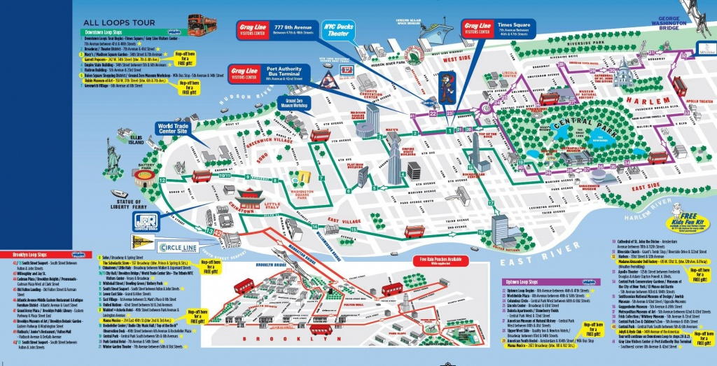 Map Of Manhattan In Miles | Citypass New York City Save 68.00 On The - Printable Walking Map Of Midtown Manhattan