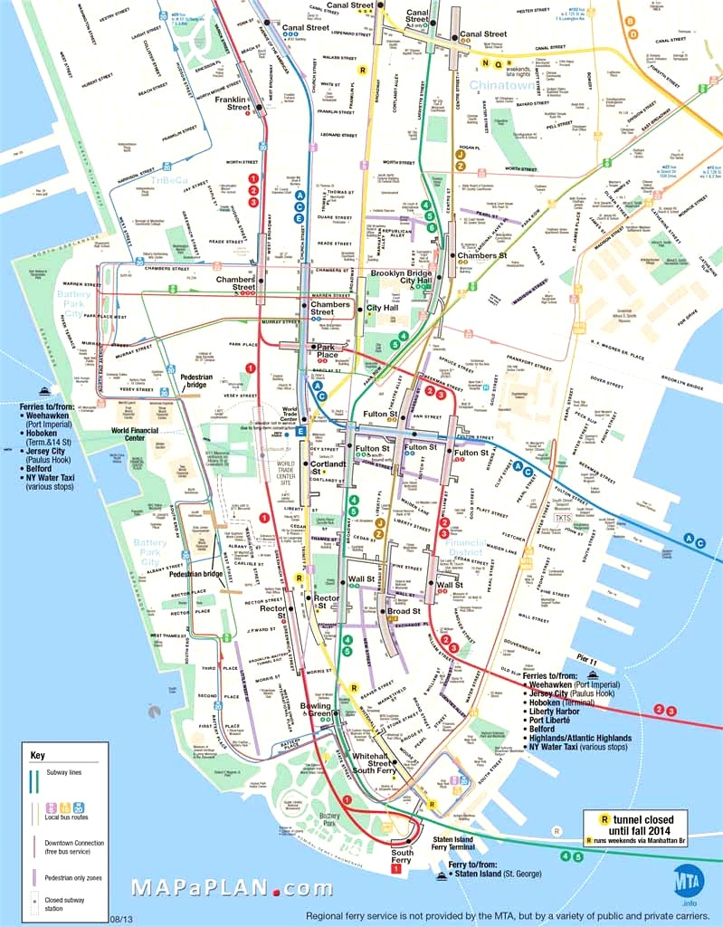 Map Of Manhattan Nyc And Travel Information | Download Free Map Of - Printable Map Of Manhattan