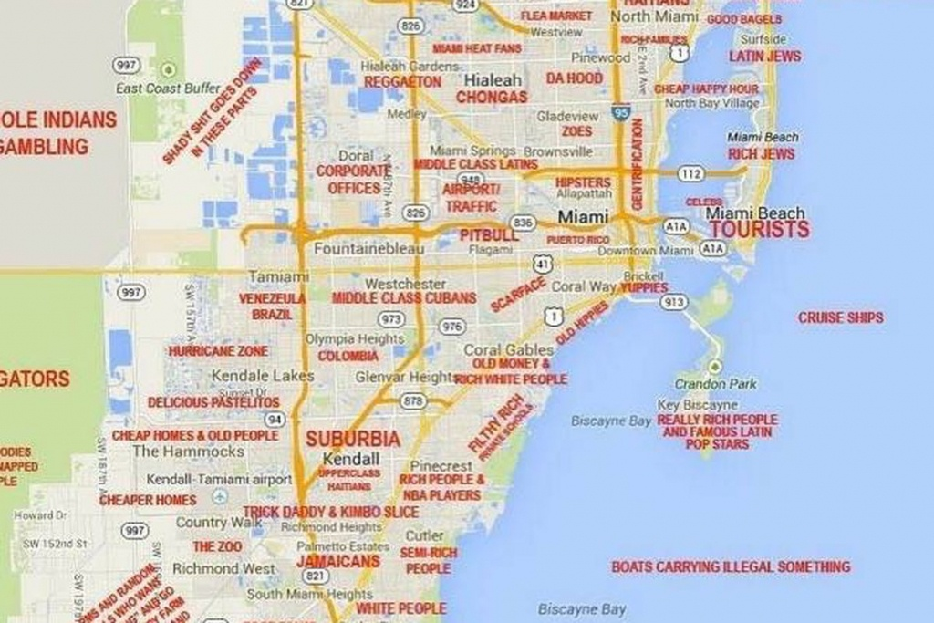 map of miami florida and surrounding areas | printable maps