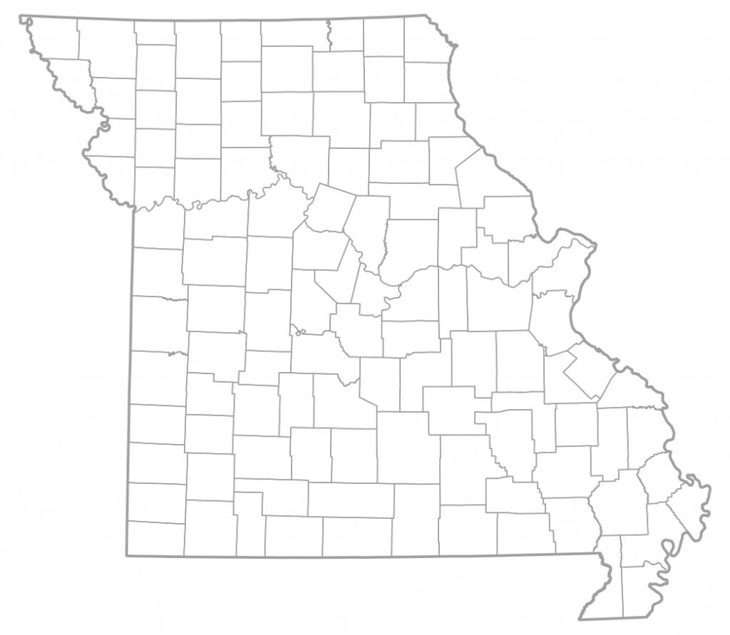 Map Of Missouri Counties   Sksinternational - Printable Blank Map Of Missouri