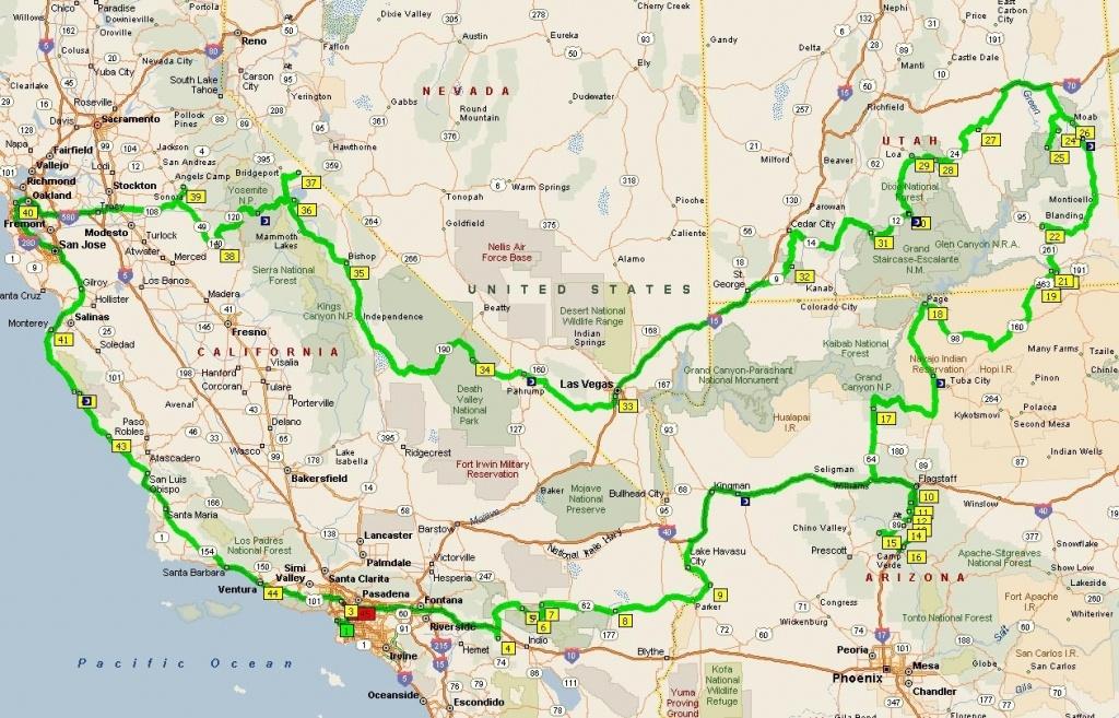 Map Of Nevada California Road Map California Arizona Map In Map - Road Map Of California Nevada And Arizona